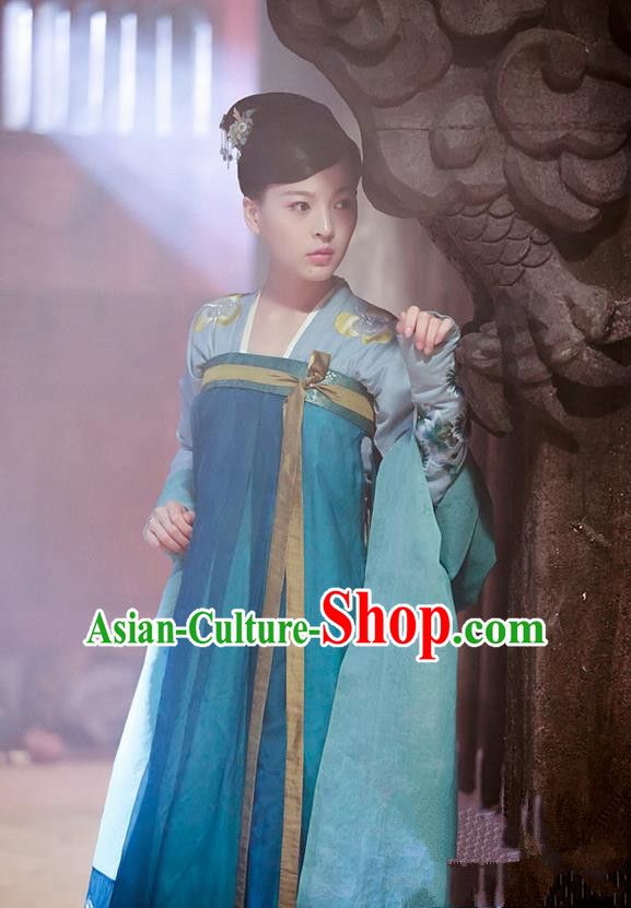 d22104962 Chinese Ancient Tang Dynasty Imperial Concubine Costume and Headpiece Complete  Set, Traditional Chinese Ancient Peri Female Officials Princess Dress for  ...