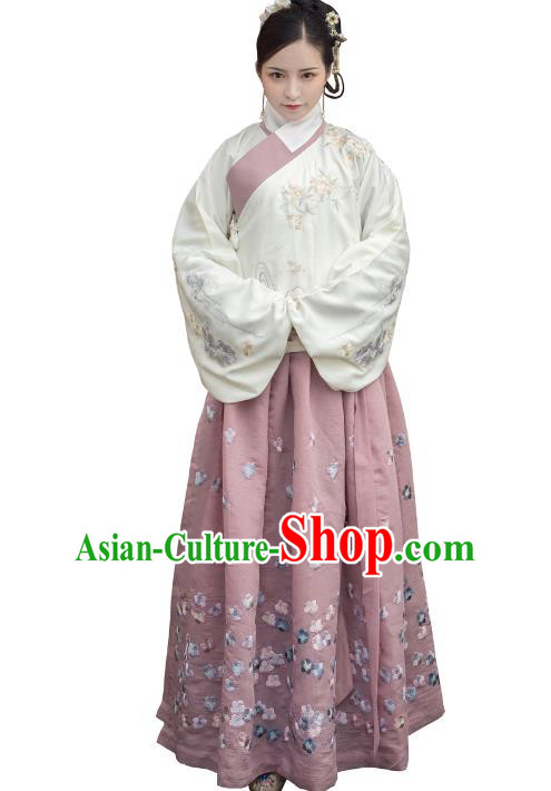 3429857fdf Traditional Ancient Chinese Ming Dynasty Imperial Princess Costume  Embroidery Long Skirt
