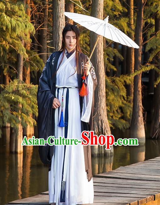 Traditional Chinese Ancient Swordsman Clothing Jin Dynasty Nobility Childe Costumes for Men