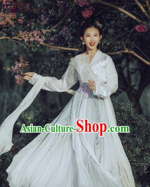 c88b0ab3517b Chinese Tang Dynasty Princess Hanfu Dress Ancient Fairy Embroidered Costumes  for Women