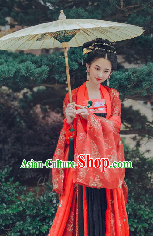 0182c6ee4301 Chinese Tang Dynasty Imperial Consort Wedding Hanfu Dress Ancient Fairy  Embroidered Costumes for Women