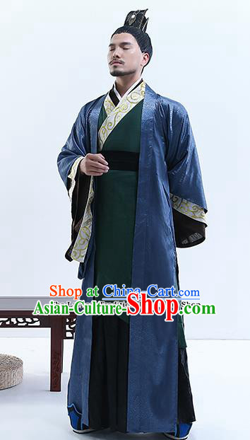 9d3f6a486b Chinese Ancient Drama Swordsman Costume Traditional Qin Dynasty Emperor  Costumes for Men