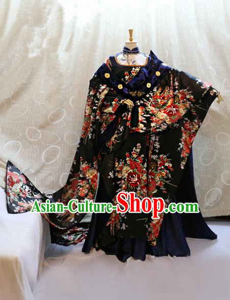 Ancient Traditional China Cosplay Tang Dynasty Imperial Concubine Costumes Complete Set for Women