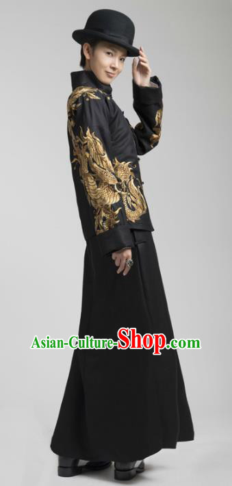 China Ancient Republic of China Nobility Childe Embroidered Clothing for Men