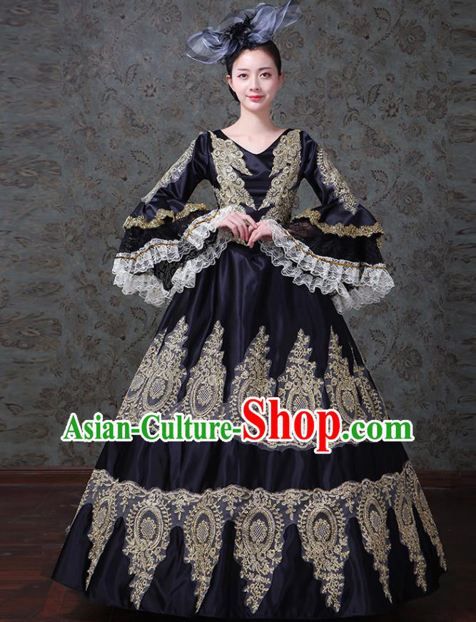 Traditional European Court Princess Renaissance Costume Stage Performance Middle Ages Dowager Dress Clothing for Women