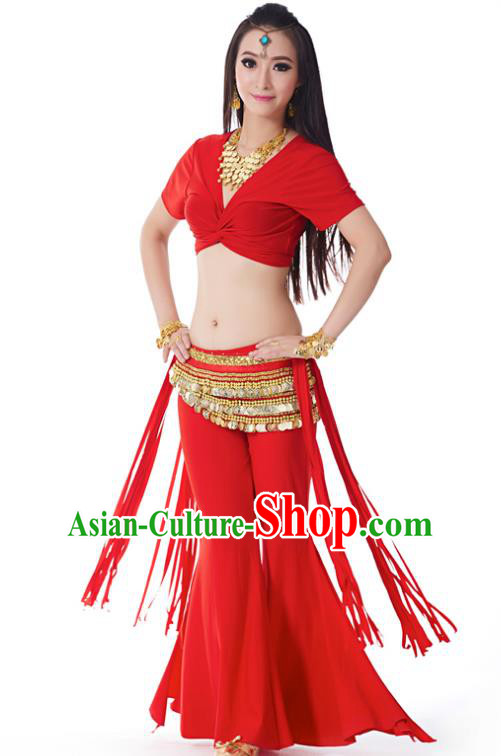 feef7b7b0 Indian Belly Dance Costume India Raks Sharki Red Uniform Oriental Dance  Clothing for Women