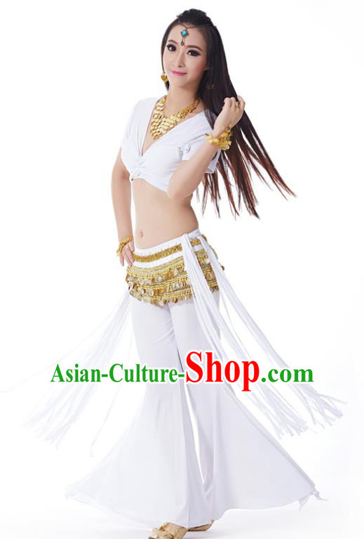 Indian Belly Dance Costume India Raks Sharki White Uniform Oriental Dance Clothing for Women
