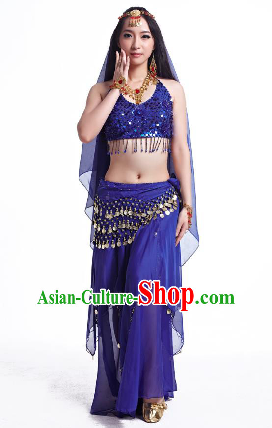 6736ec02ff2c Indian Belly Dance Costume Oriental Dance Royalblue Dress, India Raks  Sharki Bollywood Dance Clothing for Women
