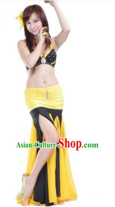 Asian Indian Traditional Black Costume Belly Dance Stage