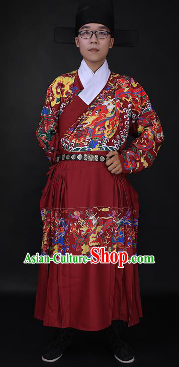 Ming Dynasty Clothing Men Chinese Ancient Imperial Bodyguard Costume Ming Dynasty Swordsman Clothing for Men