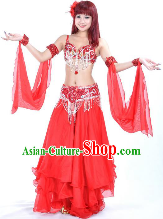 8da51e085 Traditional Bollywood Belly Dance Red Dress Indian Oriental Dance Costume  for Women