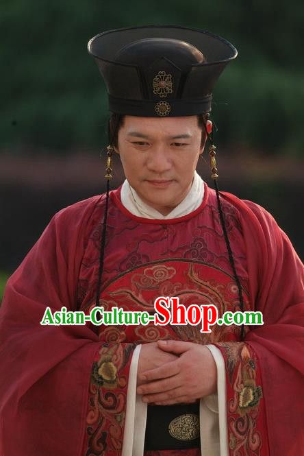 Chinese Ancient Ming Dynasty Court Eunuch Liu Jin Embroidered Clothing for Men