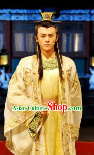 20770cccc6 Ancient Chinese Ming Dynasty Majesty Emperor Zhu Youjian Embroidered  Costume for Men