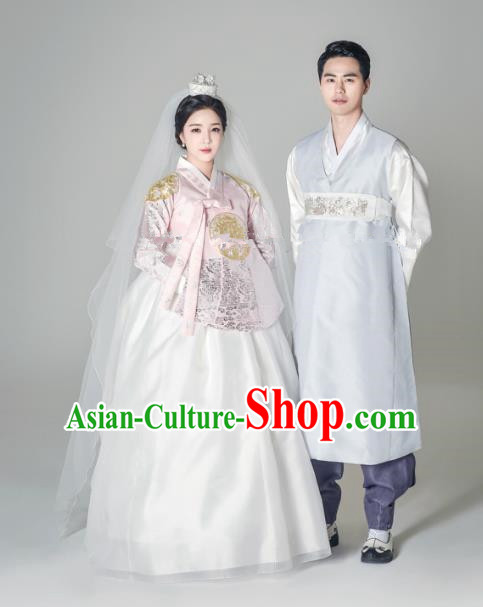 Details about  /Hanbok Dress Korean Traditional Man Hanbok Set Groom Korean National Costume