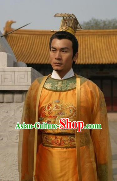 35da4b90d2 Chinese Ancient Song Dynasty First Emperor Zhao Kuangyin Replica Costume  for Men