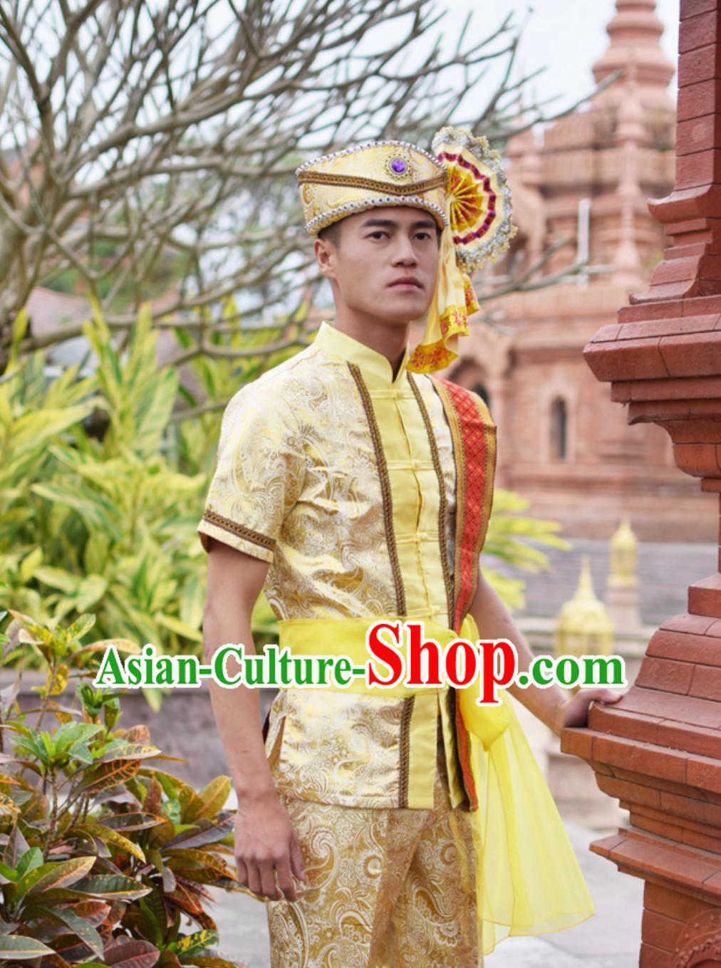 6269a5323e0 Top Traditional National Thai Dress Thai Traditional Dress Dresses Wedding  Dress online for Sale Thai Clothing Thailand Clothes Complete Set for Men  Boys ...