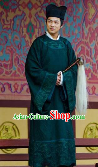 Chinese Ancient Northern and Southern Dynasties Qi Kingdom Eunuch Replica Costume for Men