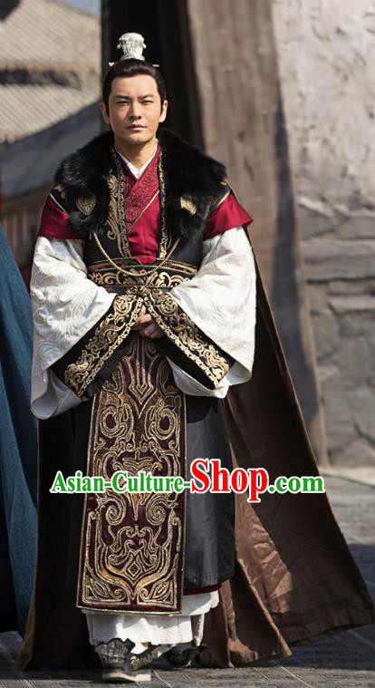 fa28a7417 Ancient Chinese Nirvana in Fire General Marshal Xiao Pingzhang Replica  Costume for Men