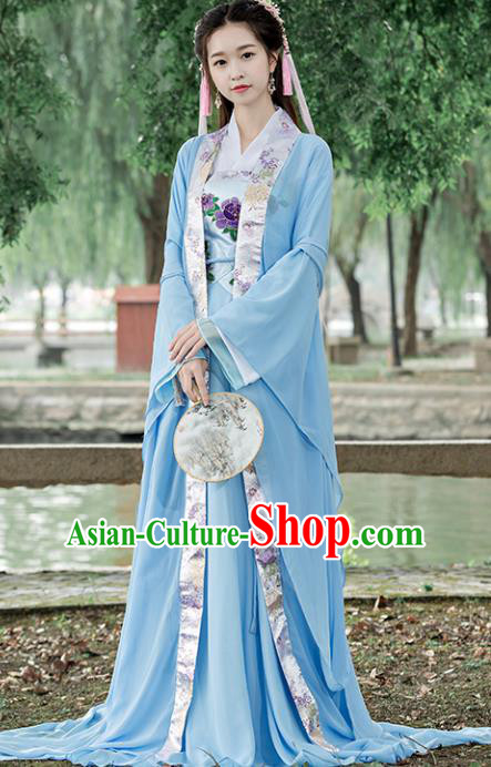 46f994a90 Traditional Chinese Ancient Palace Lady Embroidered Costume Tang Dynasty Princess  Hanfu Dress for Women