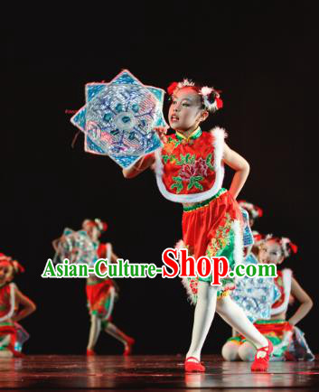 85fcee430 Chinese Competition Group Dance Costumes Kids Dance Costumes Folk ...