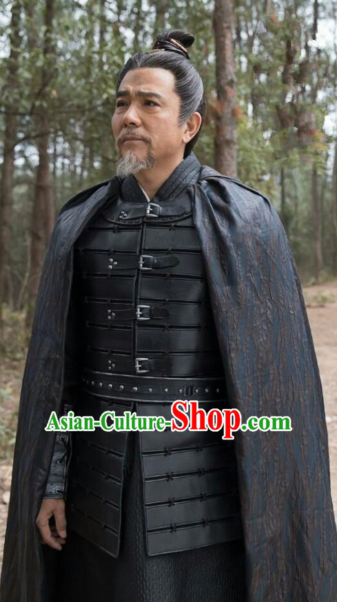Chinese Ancient Television Drama Nirvana in Fire General Xiao Tingsheng Armour Replica Costume for Men