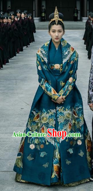 Untouchable Lovers Chinese Ancient Northern and Southern Dynasties Princess Embroidered Replica Costumes for Women