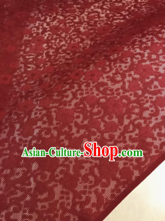 Asian Chinese Traditional Silk Fabric Royal Pattern Red Brocade Cheongsam Embroidered Cloth Silk Fabric