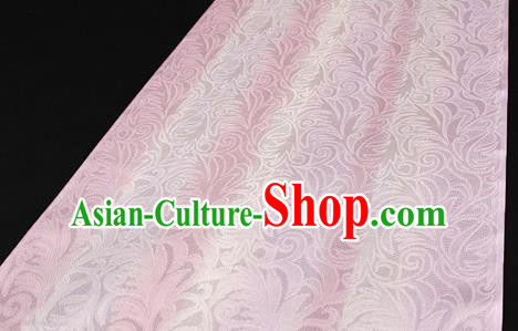 Asian Chinese Traditional Pink Silk Fabric Royal Pattern Brocade Cheongsam Cloth Silk Fabric