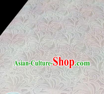 Asian Chinese Traditional White Silk Fabric Royal Pattern Brocade Cheongsam Cloth Silk Fabric