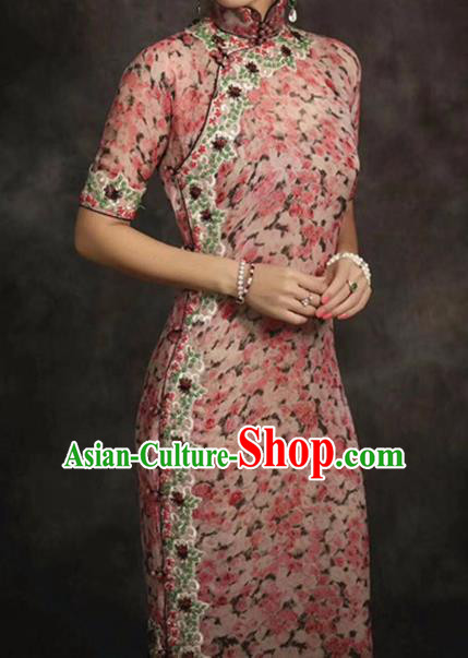 Asian Chinese Traditional Silk Fabric Royal Pattern Brocade Cheongsam Cloth Silk Fabric