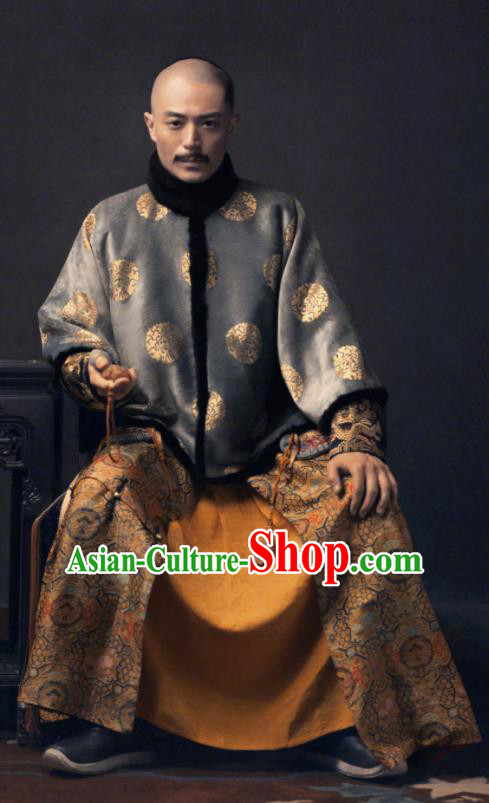 ed22112290 Ancient TV Ruyi Royal Love in the Palace Chinese Qing Dynasty Emperor  Embroidered Costumes for Men