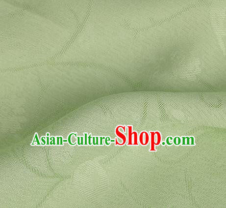 Traditional Chinese Classical Plum Blossom Pattern Green Silk Fabric Ancient Hanfu Dress Silk Cloth